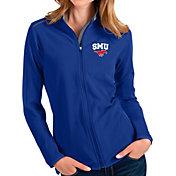 Antigua Women's Southern Methodist Mustangs Blue Glacier Full-Zip Jacket