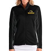 Antigua Women's Southern Miss Golden Eagles Passage Full-Zip Black Jacket
