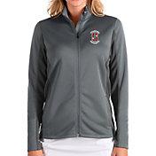 Antigua Women's Stanford Cardinal Grey Passage Full-Zip Jacket