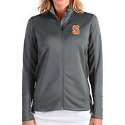 Antigua Women's Syracuse Orange Grey Passage Full-Zip Jacket