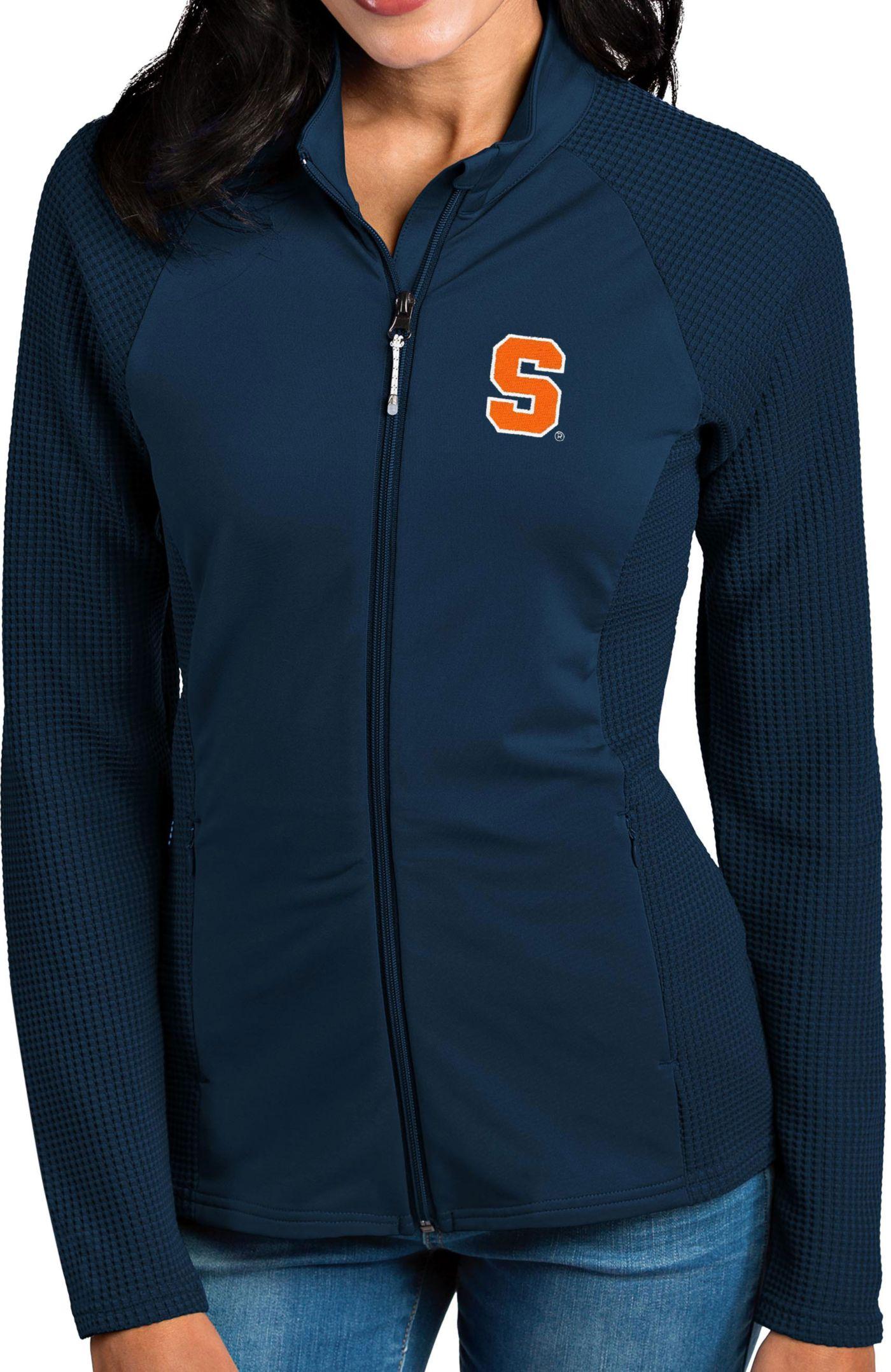 Antigua Women's Syracuse Orange Blue Sonar Full-Zip Performance Jacket