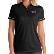 Antigua Women's TCU Horned Frogs Salute Performance Black Polo