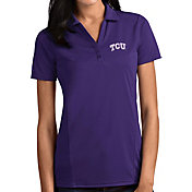 Antigua Women's TCU Horned Frogs Purple Tribute Performance Polo