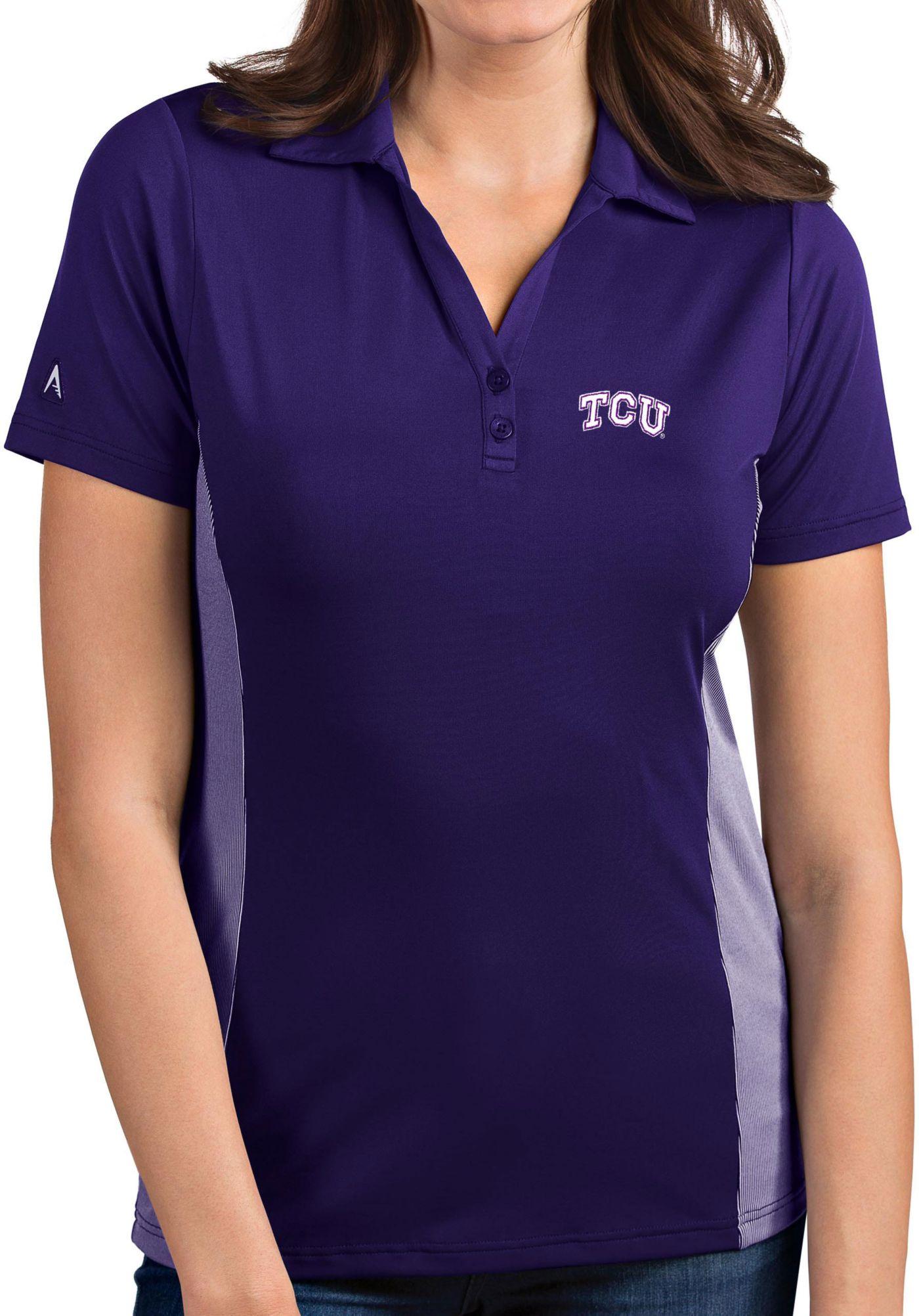 Antigua Women's TCU Horned Frogs Purple Venture Polo