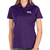 Antigua Women's TCU Horned Frogs Purple Balance Polo