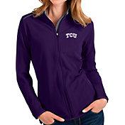 Antigua Women's TCU Horned Frogs Purple Glacier Full-Zip Jacket