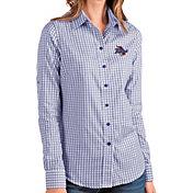 Antigua Women's Tulsa Golden Hurricane Blue Structure Button Down Long Sleeve Shirt