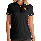 Antigua Women's Tennessee Volunteers Salute Performance Black Polo