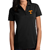 Antigua Women's Tennessee Volunteers Tribute Performance Black Polo