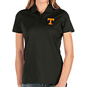 Antigua Women's Tennessee Volunteers Balance Black Polo