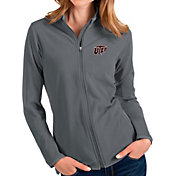 Antigua Women's UTEP Miners Grey Glacier Full-Zip Jacket