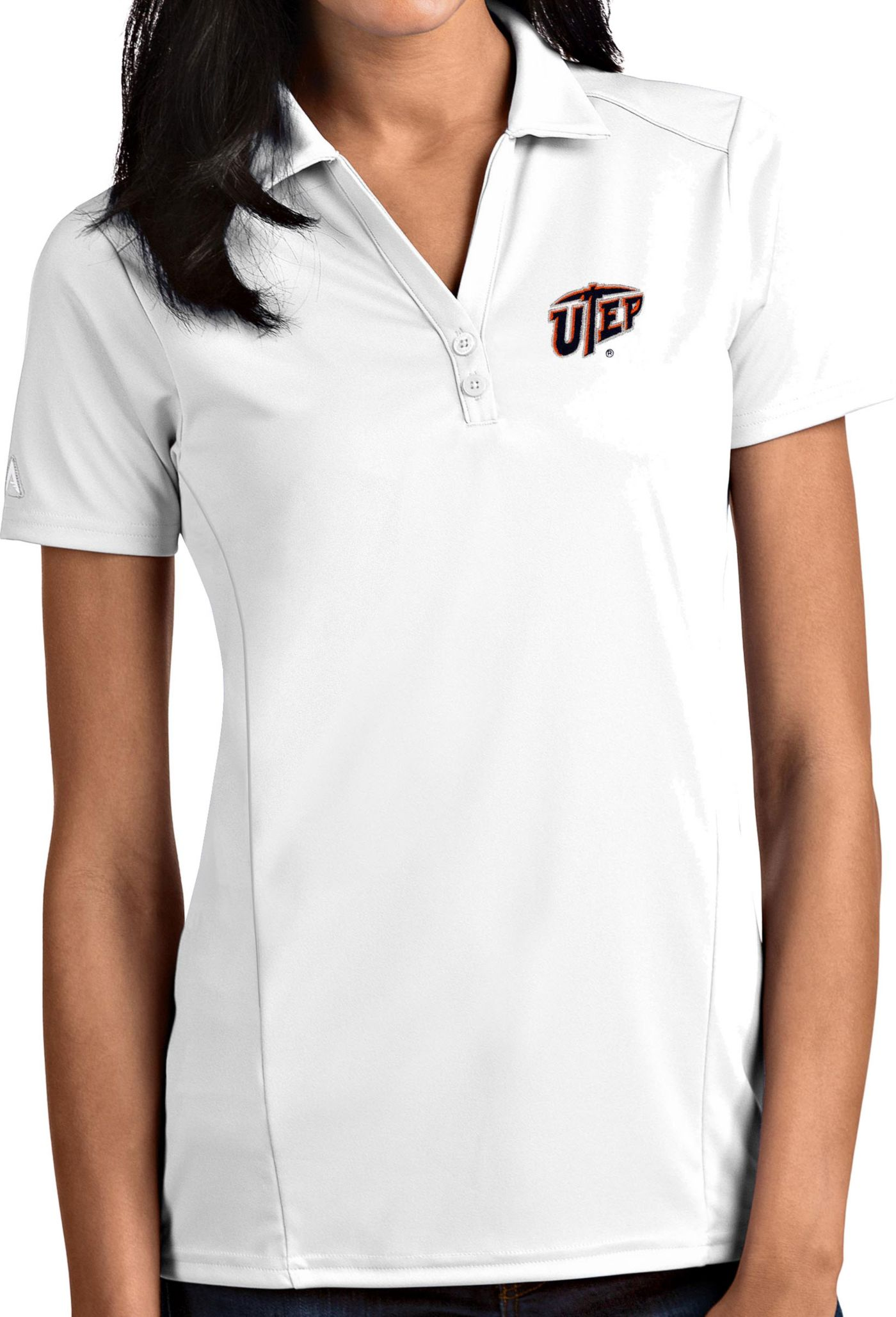 Antigua Women's UTEP Miners White Tribute Performance Polo