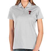 Antigua Women's Texas Tech Red Raiders Balance White Polo