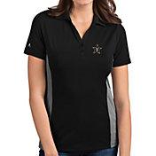 Antigua Women's Vanderbilt Commodores Venture Black Polo