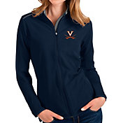 Antigua Women's Virginia Cavaliers Blue Glacier Full-Zip Jacket