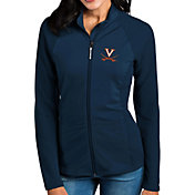 Antigua Women's Virginia Cavaliers Blue Sonar Full-Zip Performance Jacket