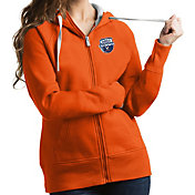 Antigua Women's Virginia Cavaliers Orange 2019 Men's Basketball National Champions Victory Full-Zip Hoodie