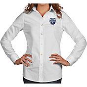 Antigua Women's Virginia Cavaliers 2019 Men's Basketball National Champions Associate Button Down Long Sleeve White Shirt