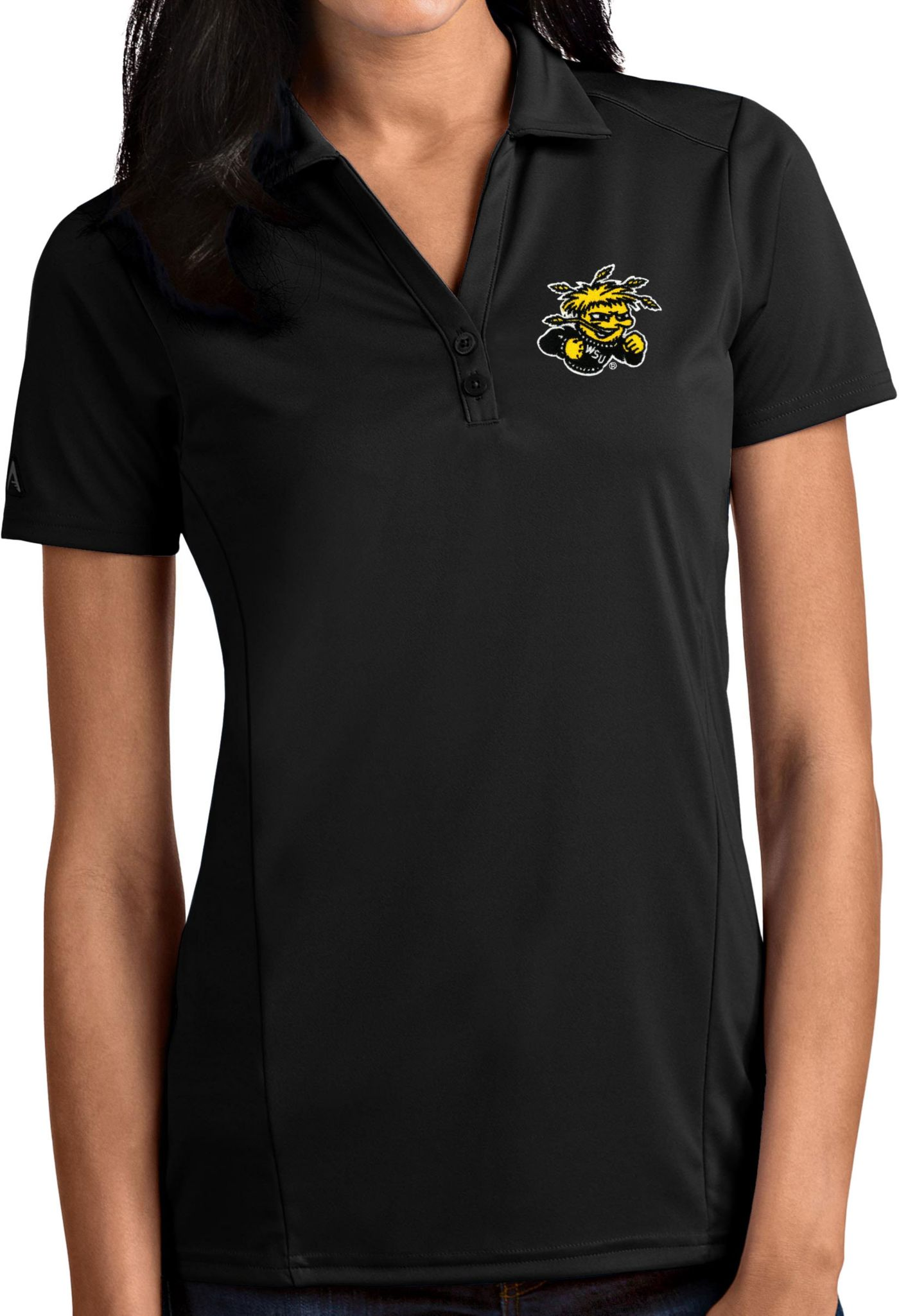 Antigua Women's Wichita State Shockers Tribute Performance Black Polo