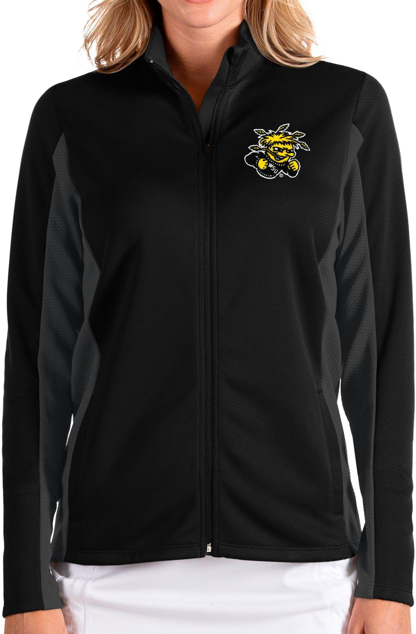 Antigua Women's Wichita State Shockers Passage Full-Zip Black Jacket