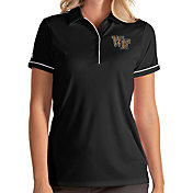 Antigua Women's Wake Forest Demon Deacons Salute Performance Black Polo