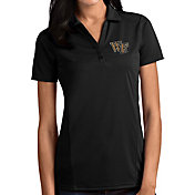 Antigua Women's Wake Forest Demon Deacons Tribute Performance Black Polo