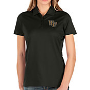 Antigua Women's Wake Forest Demon Deacons Balance Black Polo