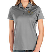 Antigua Women's Wake Forest Demon Deacons Grey Balance Polo