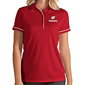 Antigua Women's Wisconsin Badgers Red Salute Performance Polo