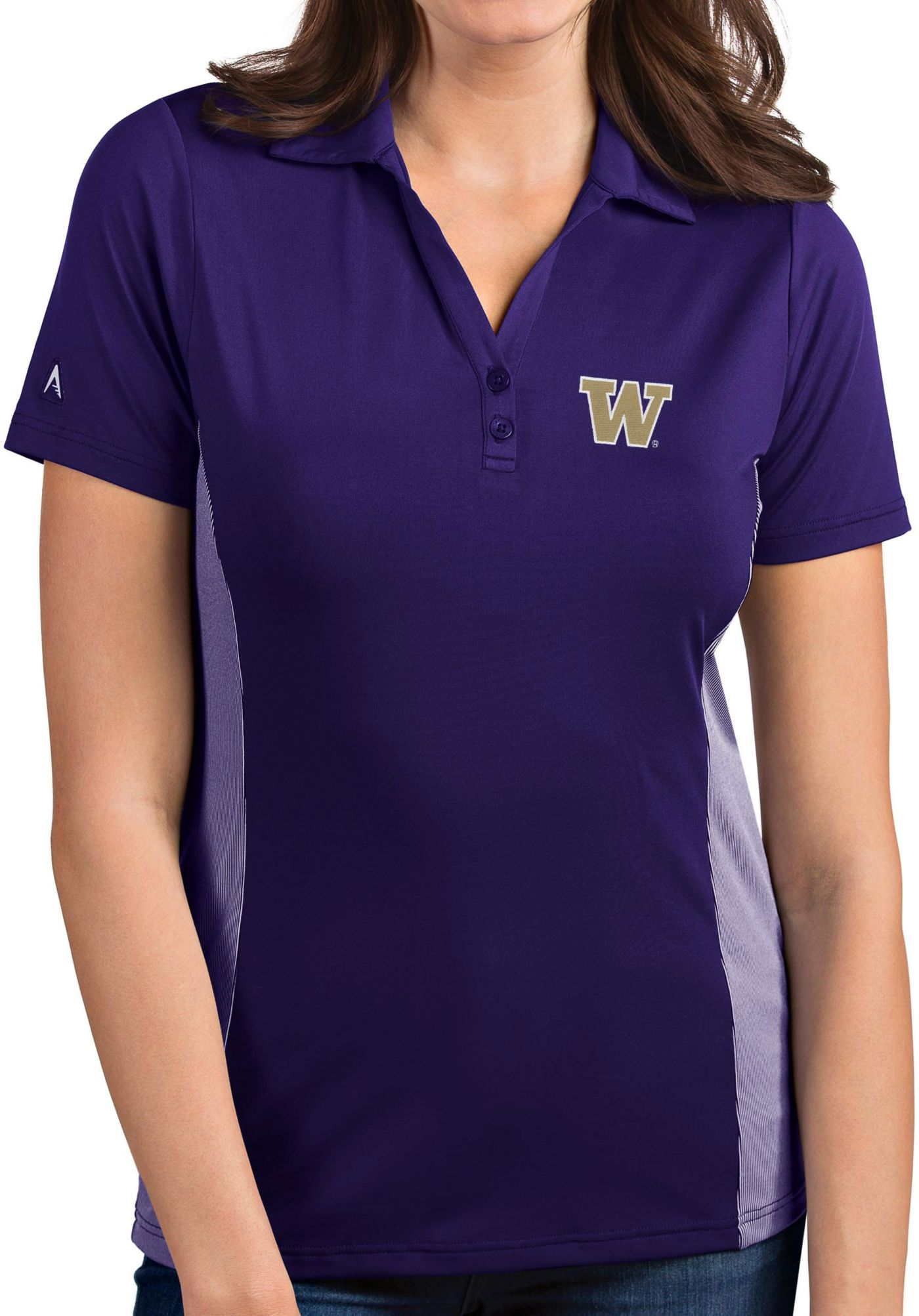 Antigua Women's Washington Huskies Purple Venture Polo
