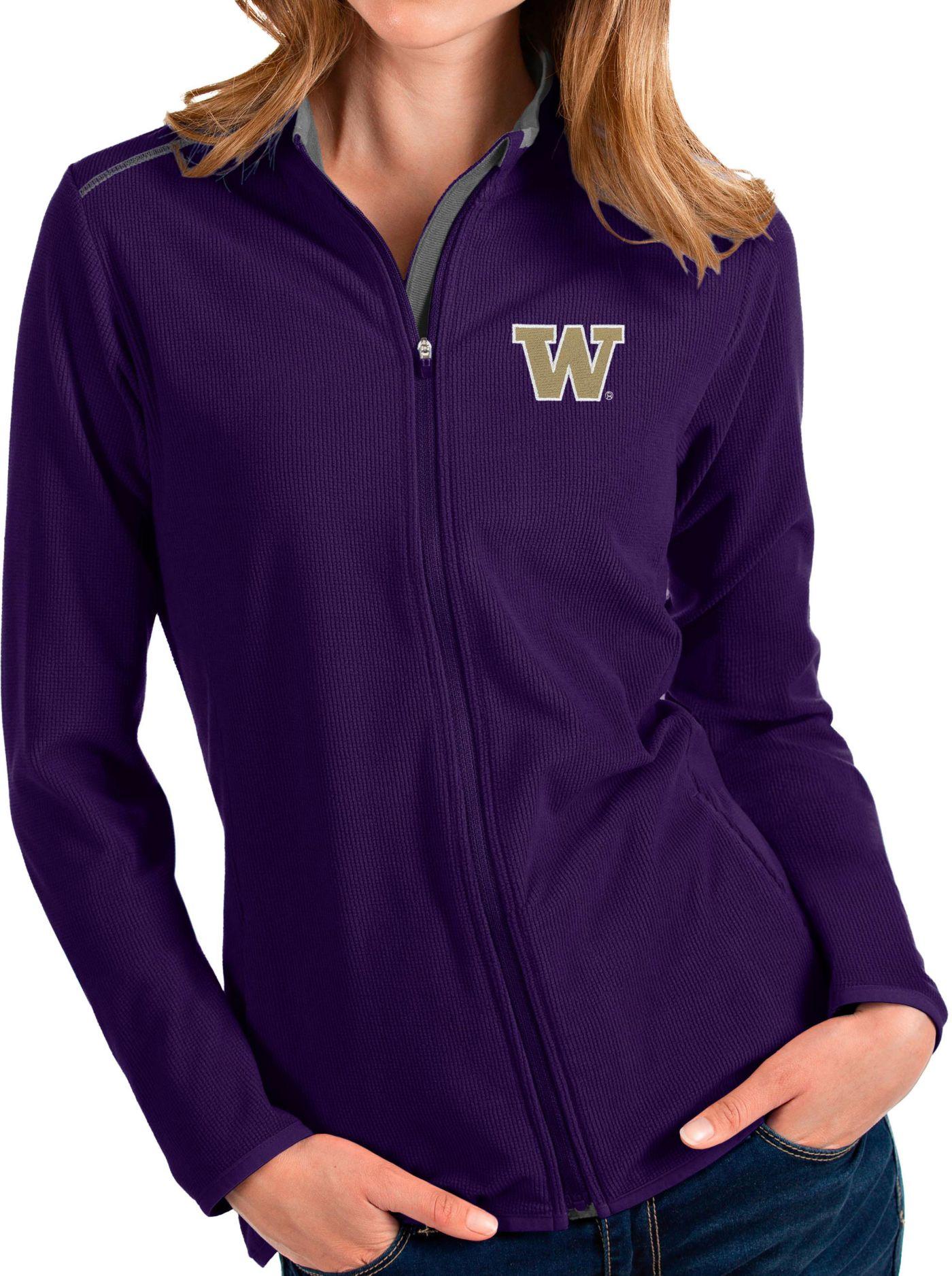 Antigua Women's Washington Huskies Purple Glacier Full-Zip Jacket