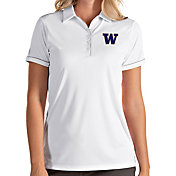 Antigua Women's Washington Huskies Salute Performance White Polo