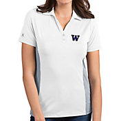 Antigua Women's Washington Huskies Venture White Polo