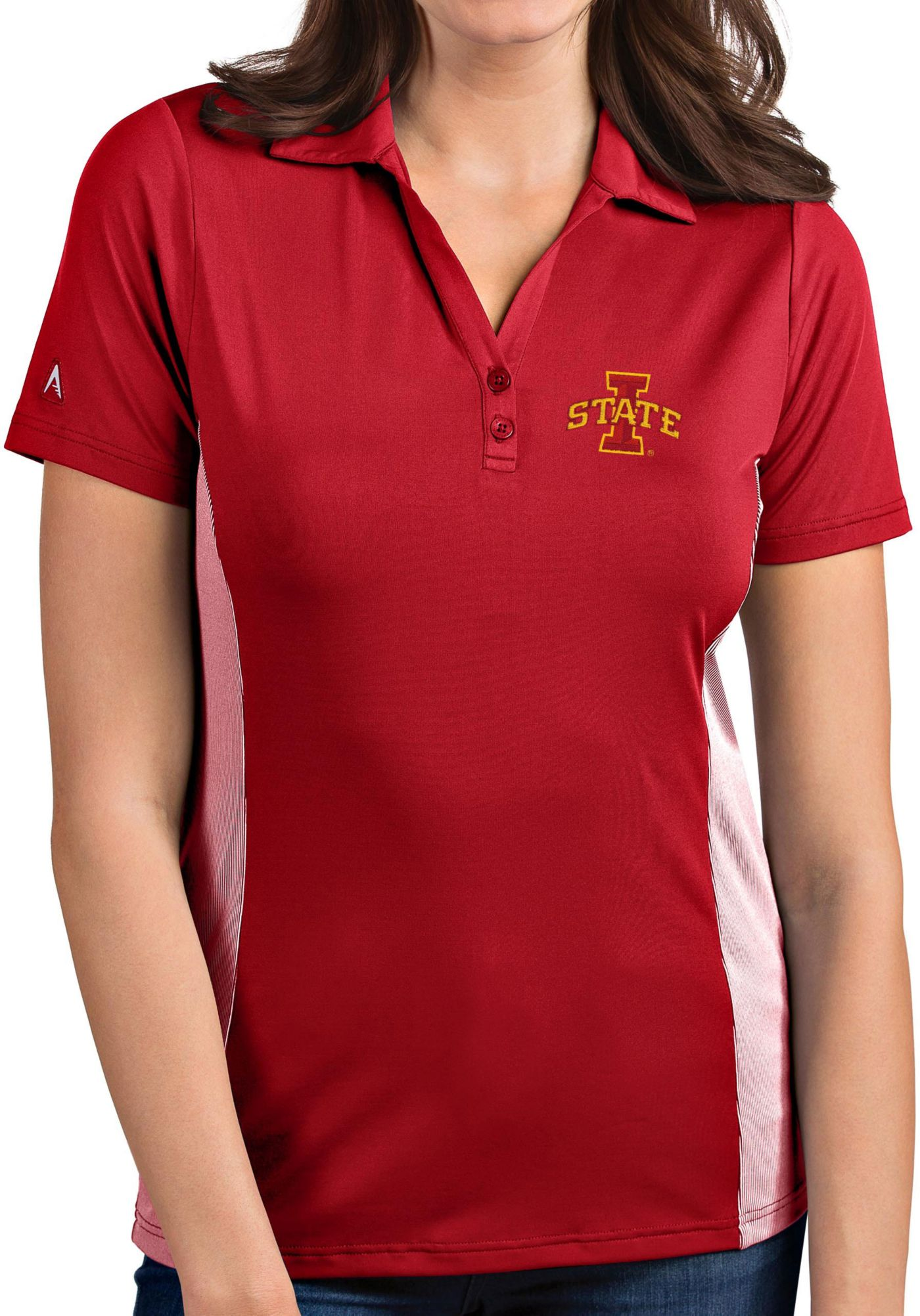 Antigua Women's Iowa State Cyclones Cardinal Venture Polo