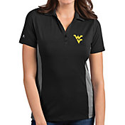 Antigua Women's West Virginia Mountaineers Grey Venture Polo