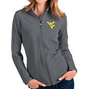 Antigua Women's West Virginia Mountaineers Grey Glacier Full-Zip Jacket