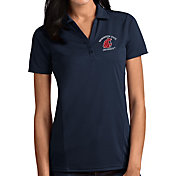 Antigua Women's West Virginia Mountaineers Blue Tribute Performance Polo