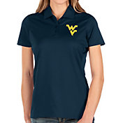 Antigua Women's West Virginia Mountaineers Blue Balance Polo