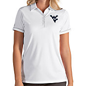 Antigua Women's West Virginia Mountaineers Salute Performance White Polo