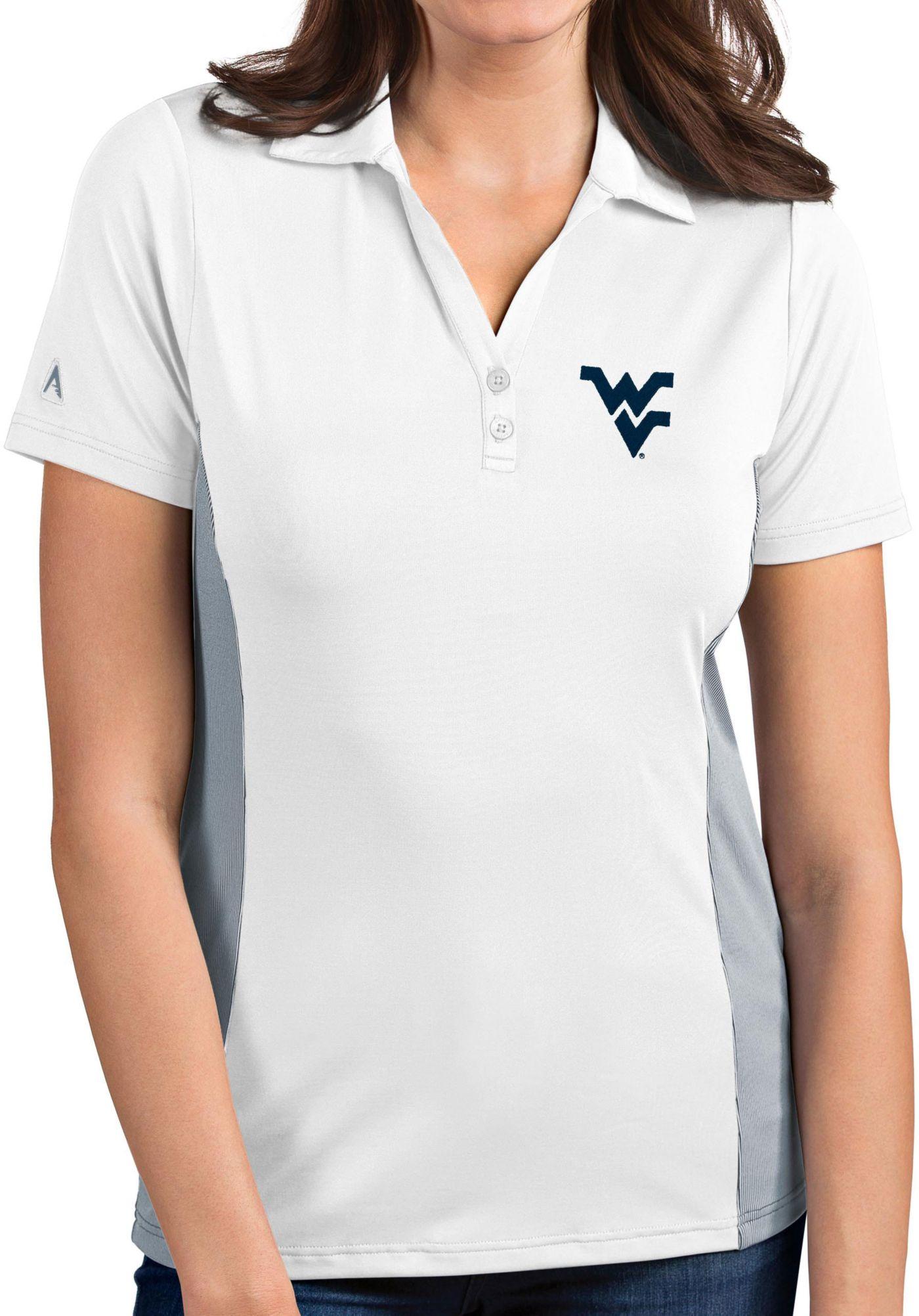 Antigua Women's West Virginia Mountaineers Venture White Polo