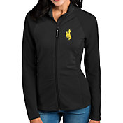 Antigua Women's Wyoming Cowboys Black Sonar Full-Zip Performance Jacket