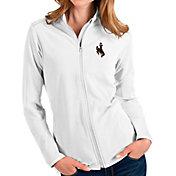 Antigua Women's Wyoming Cowboys Glacier Full-Zip White Jacket