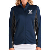Antigua Women's Xavier Musketeers Blue Passage Full-Zip Jacket