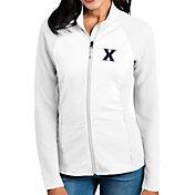 Antigua Women's Xavier Musketeers White Sonar Full-Zip Performance Jacket