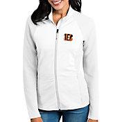 Antigua Women's Cincinnati Bengals Sonar White Full-Zip Jacket