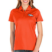 Antigua Women's Denver Broncos Balance Orange Polo