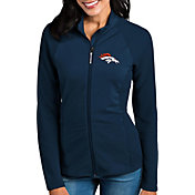 Antigua Women's Denver Broncos Sonar Navy Full-Zip Jacket