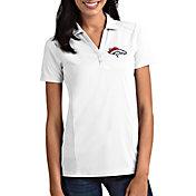 Antigua Women's Denver Broncos Tribute White Polo