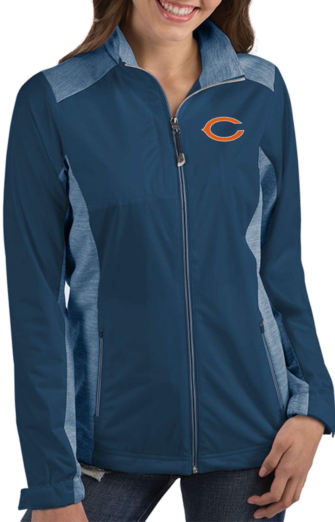 Antigua Women's Chicago Bears Revolve Navy Full-Zip Jacket