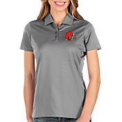 Antigua Women's Cleveland Browns Balance Grey Polo